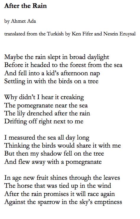 Ken Fifer's Most Recent Poetry